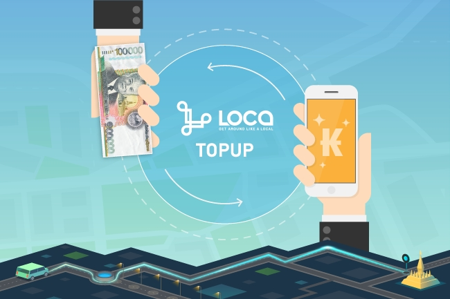 How to top-up your LOCA Wallet with CASH via the drivers