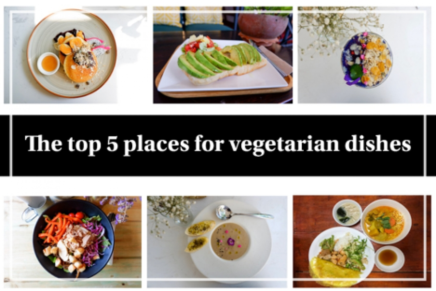 The top 5 places for vegetarian dishes